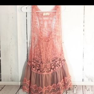 💖A'reve BOHO flowy lace dress/long Top💖
